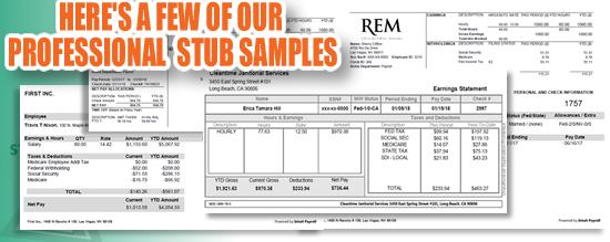 paystub samples